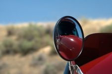 Reflections Of A Diesel Truck Mirror
