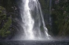 Free Waterfall In Milford Sound Stock Images - 5932614