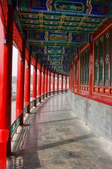 Columns In Beihai Park Stock Images