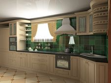 Free Interior Of Kitchen Stock Image - 5933151