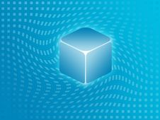 Blue Cube Background Royalty Free Stock Photography
