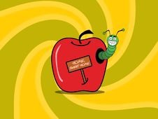 Free Worm Apple Background Royalty Free Stock Photos - 5933258