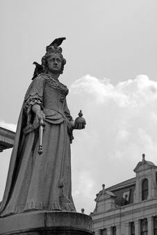 Queen Anne Statue Royalty Free Stock Photo