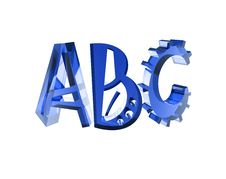 Free Blue Glass ABC Isolated Stock Photography - 5933502