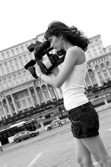 Free Reporter Royalty Free Stock Photography - 5933657