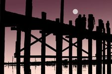 Free Myanmar, U Bein Bridge; Vector Stock Images - 5933684