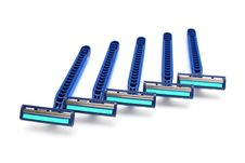 Blue Razors Stock Image