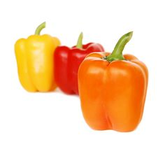 Free Red, Yellow And Orange Peppers Stock Images - 5934074