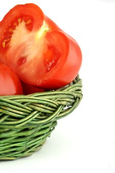 Tomatoes In The Basket Royalty Free Stock Images