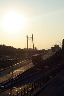 Free Bridge Over The Railway Stock Photography - 5934102