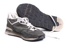 Free Old Grungy Running Shoes Royalty Free Stock Photos - 5934308