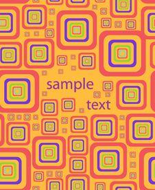 Free Stylish Square Background. Vector Illustration Royalty Free Stock Image - 5934656