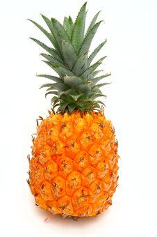 Free Pineapple On White Background Stock Photos - 5934923