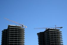 Free Cranes On A Building Site Stock Photo - 5934970