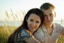 Free Couple On The Beach. Stock Photos - 5936473