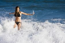 Free Playing With Waves Stock Images - 5937214