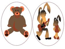 Free Bear And Rabbits Royalty Free Stock Photography - 5937367