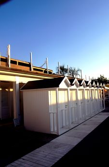 White Beach Huts Royalty Free Stock Images