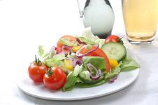 Free Fresh Salad With Tomatoes Royalty Free Stock Photo - 5938095