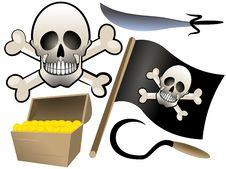 Piracy Set Stock Photo