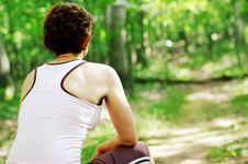 Free Mature Woman Runner Resting Stock Image - 5938231