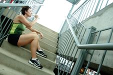 Urban Runner Royalty Free Stock Images