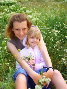 Two Girls. Royalty Free Stock Image