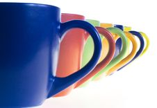 Color Cups Stock Image