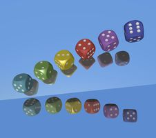 Free Six Rednered Dices Royalty Free Stock Image - 5939496