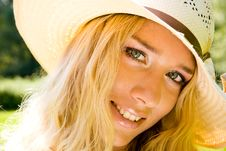 Free Smiling Young Blond Woman Royalty Free Stock Photos - 5940188
