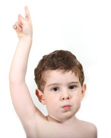 Boy Pointing Up Royalty Free Stock Image