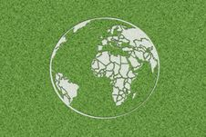 Earth In Grass Stock Images