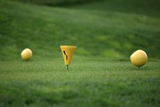 Golf Tee Cup Royalty Free Stock Photography