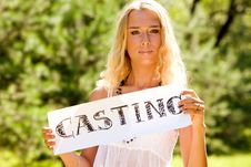Free Young Blond Woman Royalty Free Stock Photography - 5941447
