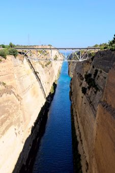 The Corinth Canal Stock Photo