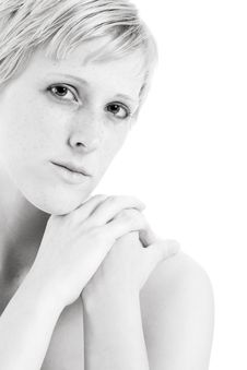 Free Blond In Black And White Flirting With You Royalty Free Stock Photo - 5942525