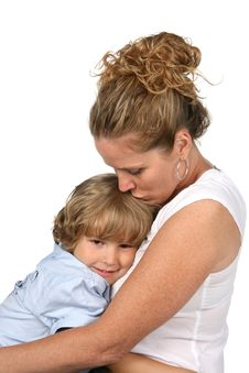 Free Mother Kissing Son S Head Royalty Free Stock Photography - 5943577