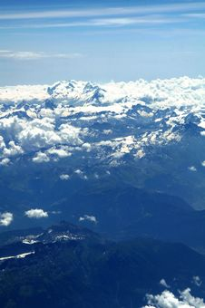 Free Aerial View Of Swiss Alps Royalty Free Stock Images - 5943899
