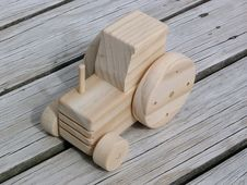 Free Wooden Toy Tractor Royalty Free Stock Photography - 5944887