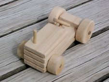 Free Wooden Toy Open Tractor Royalty Free Stock Images - 5944889