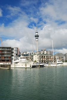 Free Yachts At Auckland Harbor Stock Image - 5945021