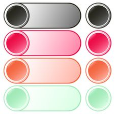 Set Of Beautiful Round Buttons Stock Photography