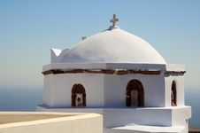 Free Creek Church In Santorini Stock Photo - 5945900