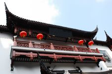 Traditional Wood Architecture Of China Royalty Free Stock Photography