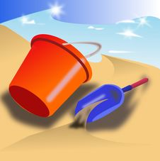 Free Bucket And Shovel Royalty Free Stock Image - 5946956