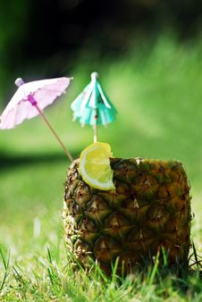 Free Pineapple Drink Royalty Free Stock Photo - 5947155