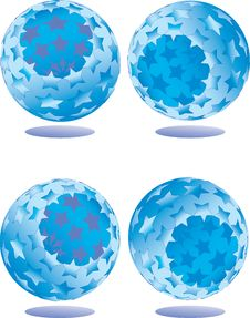 Free Abstract Blue Ball Royalty Free Stock Photo - 5947685