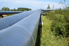 Free Industrial Pipelines And Electric Power Lines Stock Photography - 5948032