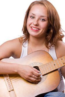 Free Beautiful Girl Playing Guitar. 4 Stock Photo - 5948320