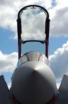 Jet Fighter Canopy Royalty Free Stock Photo